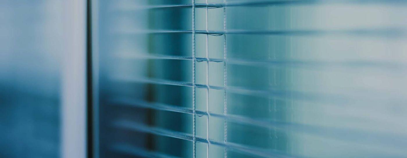 closeup of window blinds